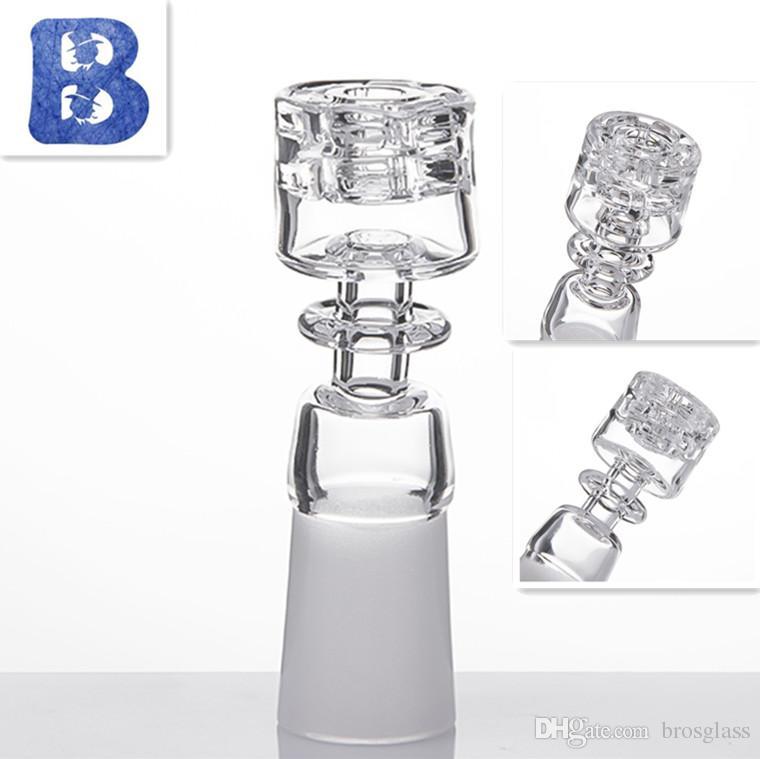 Nuovo quarzo banger smerigliato giunto 19/14 / 10mm MaleFemale Joint Pure Crystal doppio Stack Stacker Diamond Knot a Mr.Dabs Retail