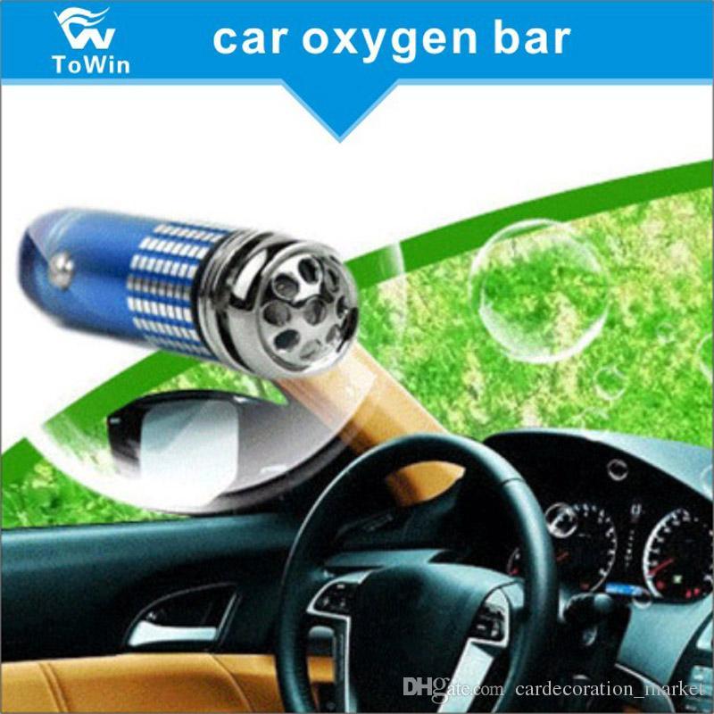 En kaliteli, 12 V Araba Oksijen Bar Mini Oto Araba Anyon Ozon Jeneratörü Hava Temizleyici Arıtma Filtresi Ionizer Oksijen