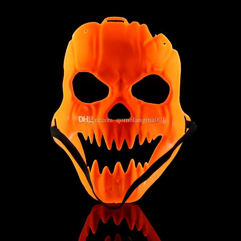 Halloween Pumpkin Mask Costume Party Props Plastic Fancy Mask Scary Full Face Horror Mask