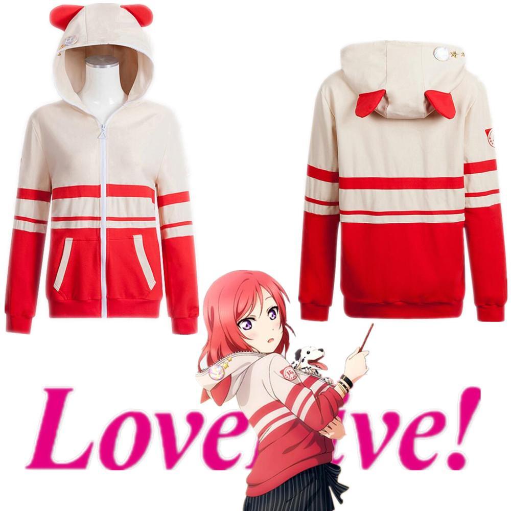Asya Boyut Japonya Anime LoveLive Nishikino Maki Halloween Cosplay Kız Kostüm Casual Uzun Kollu Hoodie Coat