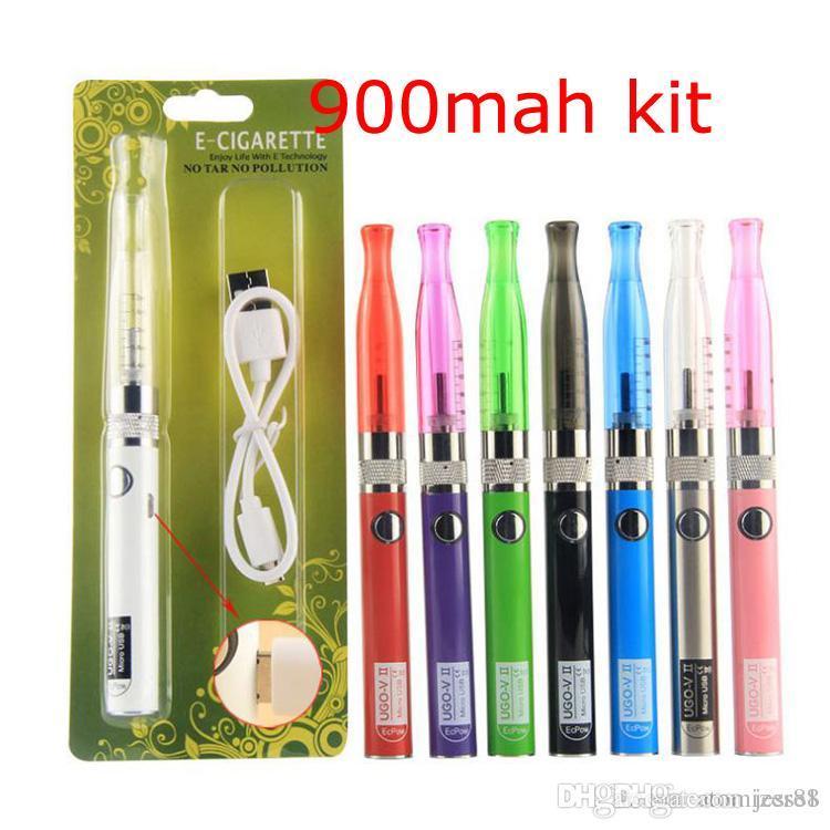 ECIG UGO-VI II Vape Pen 650mAh 900mAh 510 Bateria GSH2 Vaporizador Kit E Cigarro Starter Kit Micro USB Carregando Vape Mod 7264991