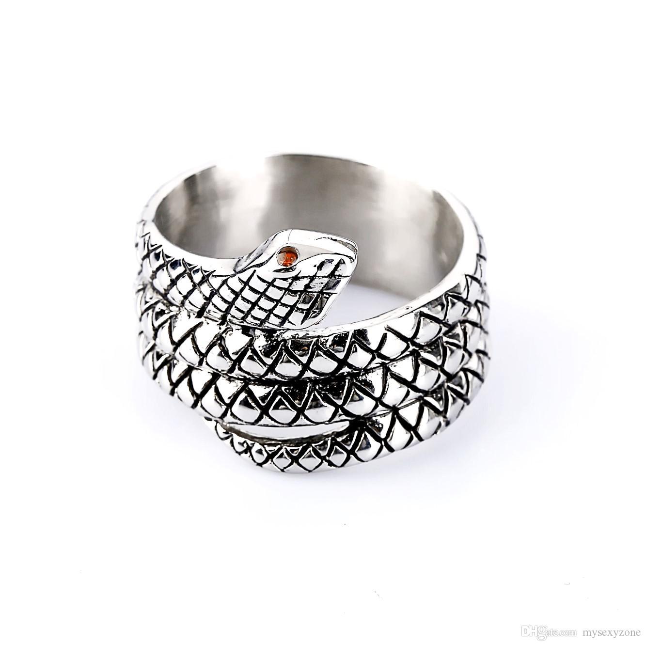 Private Design Кольцо Пениса Glans Ring Стиль Змеиная Голова Металл Мужское устройство целомудрия Мужское Кольцо Кобра для мужчины