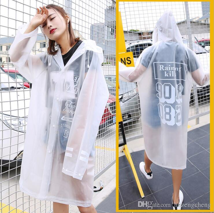 Adult fashion suit waterproof female men's outdoor single poncho thick non-disposable transparent raincoat