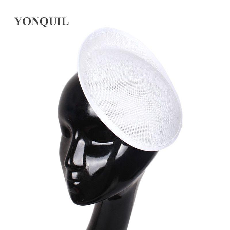 16 couleurs ou dames cheveux blancs parti Bases Fascinator imitation Sinamay cheveux mariage accessoires femmes Couvre-chef 5pcs artisanat / lot SYB01