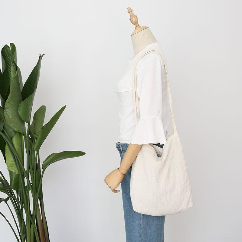 compare price where can i buy classic style of 2019 2018 Blank Ladies Duty Canvas Tote Bag Handmade Cotton Shopping School  Travel Women Long Shoulder Strap Household Shopping Bags Eco Friendly Bags  ...