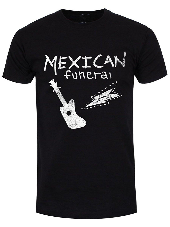 Erkekler Meksika Cenaze T Shirt Siyah erkek T Shirt Yaz Tarzı moda Toptan İndirim Erkekler T Shirt Düşük Fiyat Yuvarlak Boyun Erkekler Tees