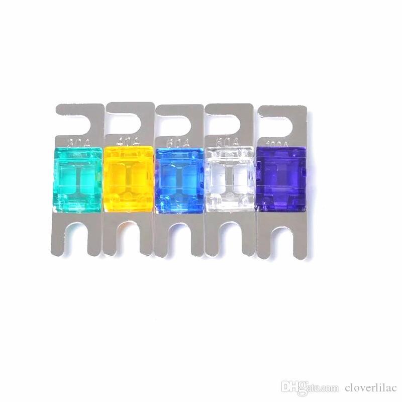 20pcs / bag Buona qualità Nickel Fusibile ANS Fusibile ANL mini