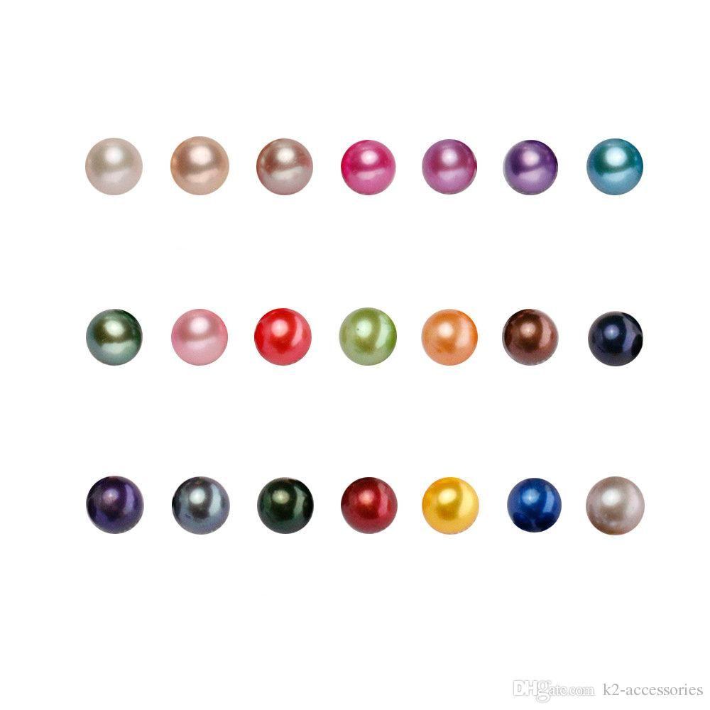 DIY Süßwasser natürliche Akoya ringsum Perlen lose Korn Süßwasserzucht Oyster Perlen 5-7mm MIX FARBEN