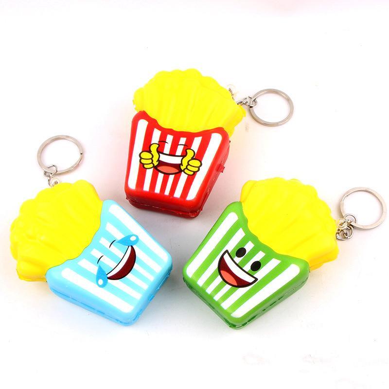 18pcs Yeni kawaii Squishy Mini'nin 7cm Parmak Patates sıkın Stres Giderici Oyuncak Charms Telefon Askı çocuk Juguetes Rising Yavaş Squishy