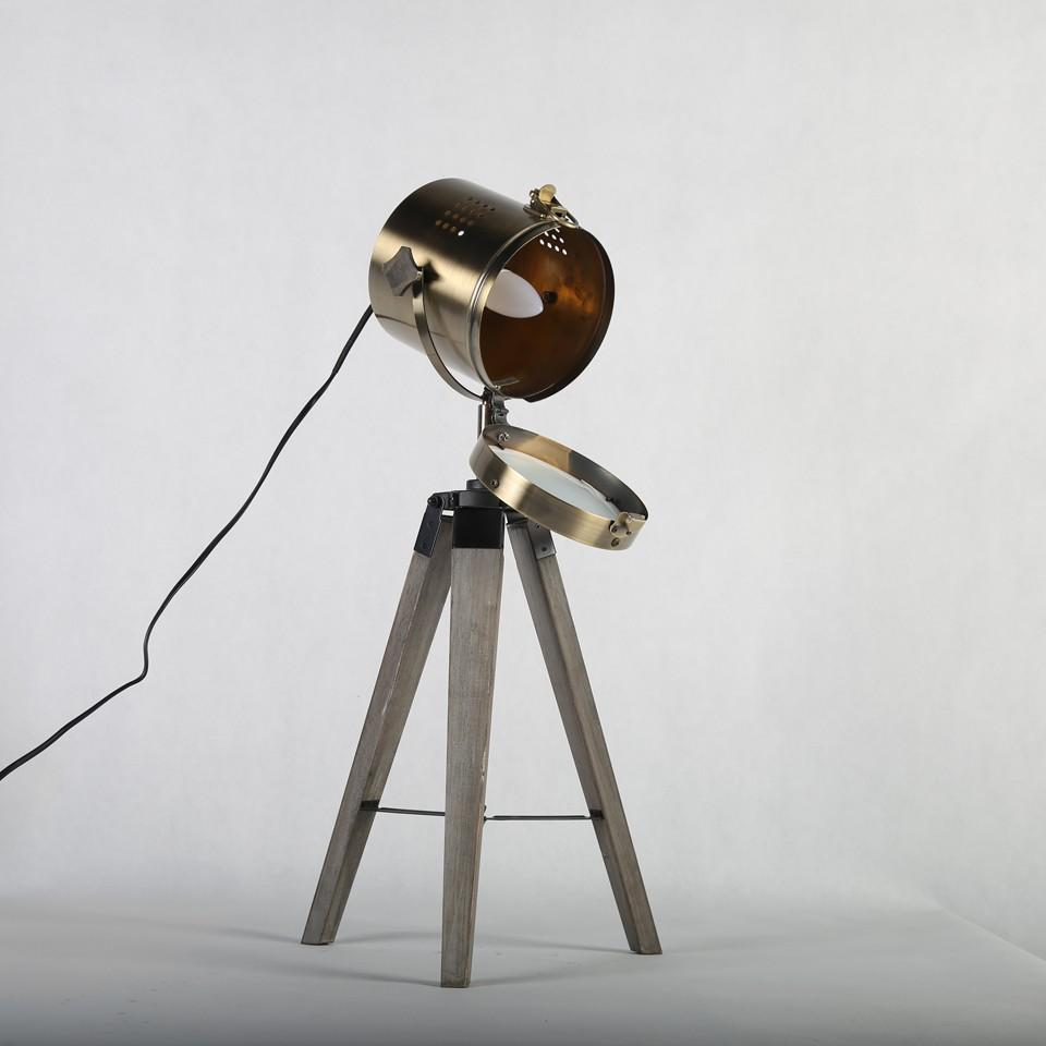 Best Led Wood Tripod Table Search Light Desk Reading Lamp Lamps ...