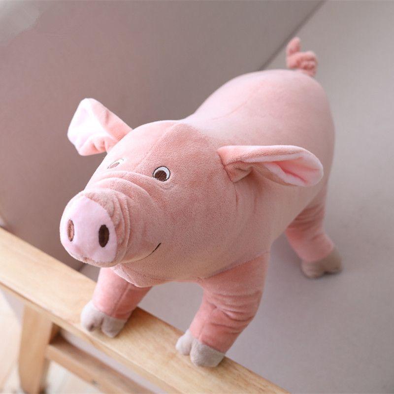 25 cm Kawaii Cartoon Schwein Plüschtier Kuscheltier Spielzeug Weiche Rosa Schwein Kissen Home Sofa Dekoration LA060