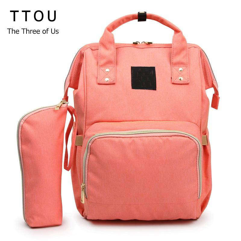 TTOU Mummy Maternity Diaper Bag Mom Backpack 2pcs/set Large Capacity Baby Bag Nursing For Baby Care