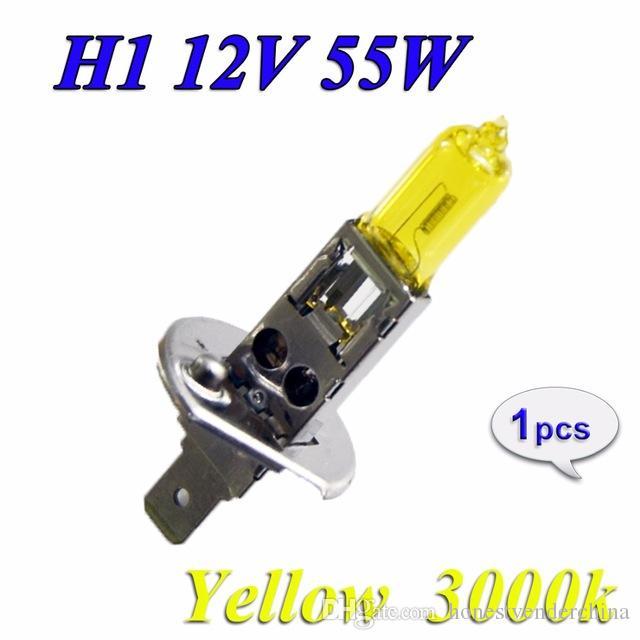 2XH1 lampada alogena 12V 55W giallo 3000K 1700LM vetro di quarzo del faro dell'automobile auto luce allo xeno fendinebbia