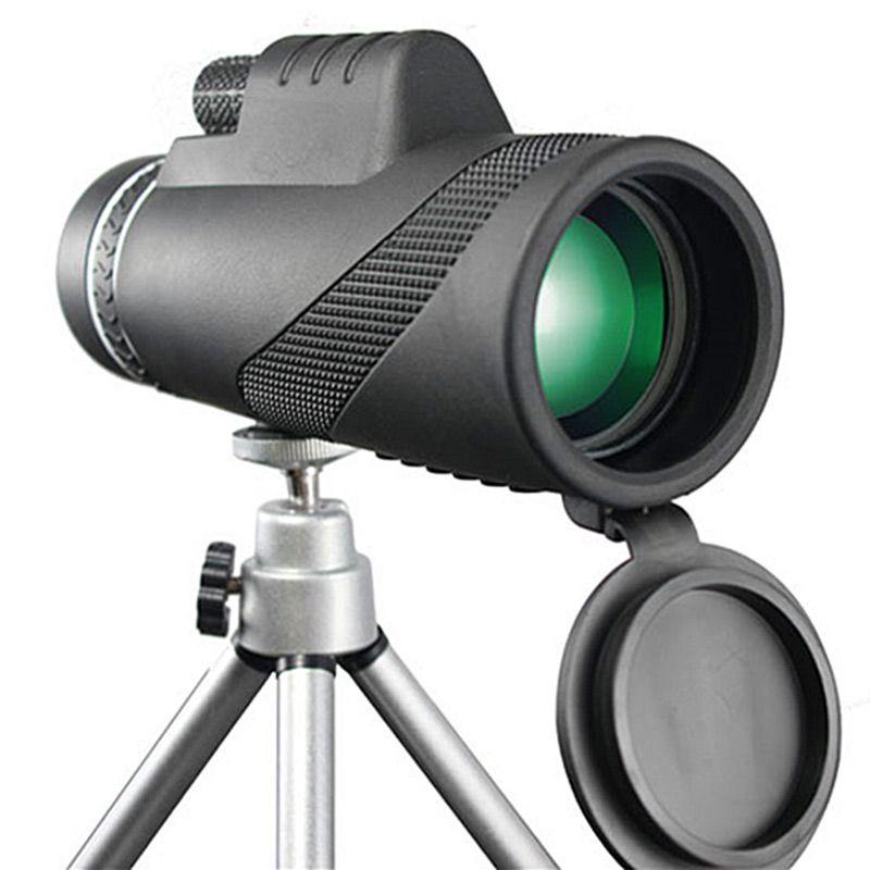 40X60 احادي العين قوية مناظير للرؤية الليلية HD بريزم يده تلسكوب في الهواء الطلق المهنية سفر الصيد مناظير