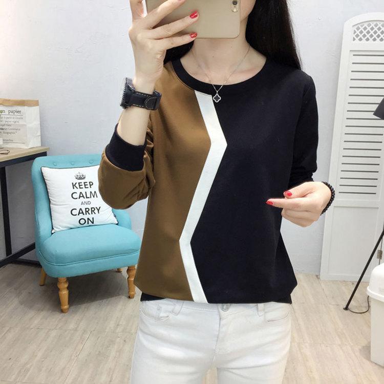 Plus Size Tshirt Women Fashion Long Sleeve T-shirt Women Tops Casual Camiseta femme Patchwork Tshirts Women Poleras Mujer 2019 (9)