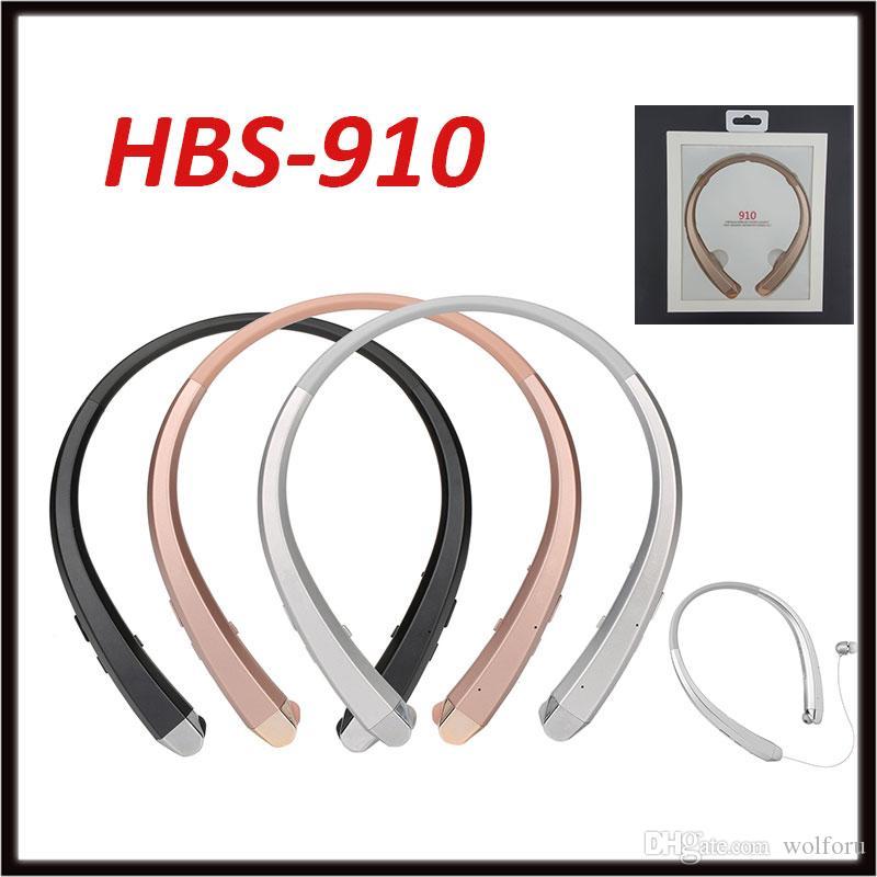 HBS 910 Bluetooth наушники HBS910 высокое качество CSR4.1 чип беспроводная гарнитура наушники спортивные наушники для iPhone Samsung с коробкой