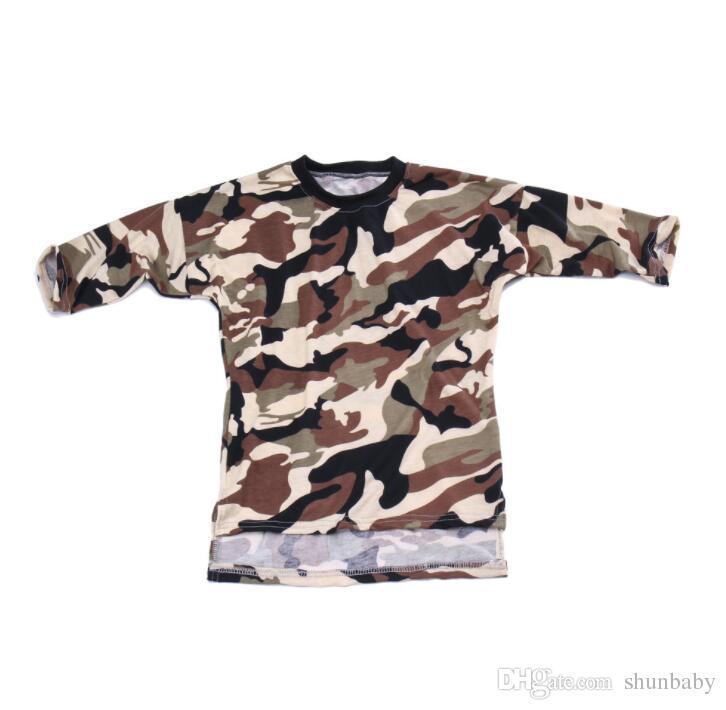Kleinkind Baby Mädchen Mini Kleid Kleidung Langarm Camouflage Kleid Kind Lose Gerade Casual Style Shirt Kinder Kleidung
