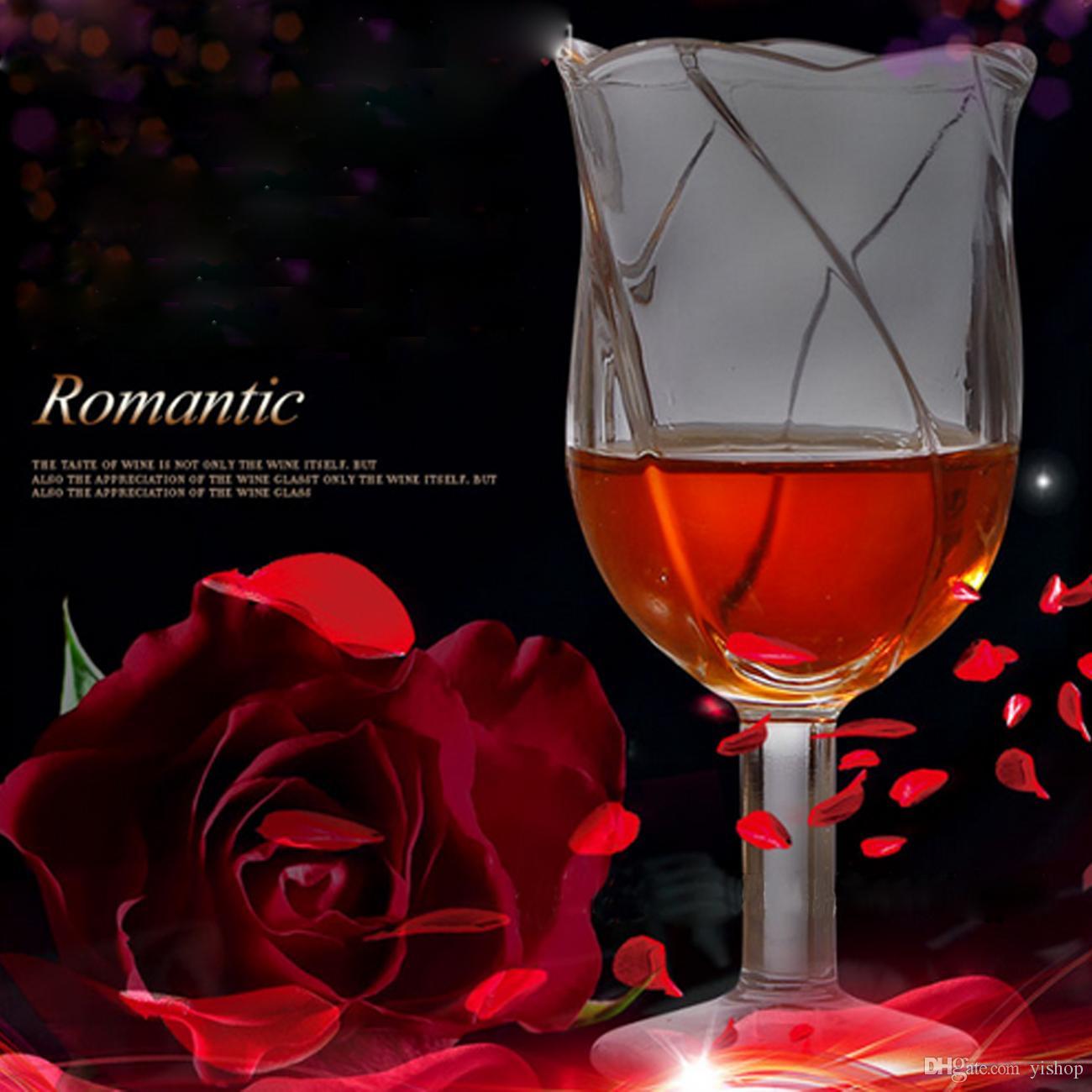 High-Grade Rose KTV Cup Flower Shape Beer Glasses Steins 160ML Pint Juice Transparent Drink Ware Cocktail Holder Oxhorn Gift