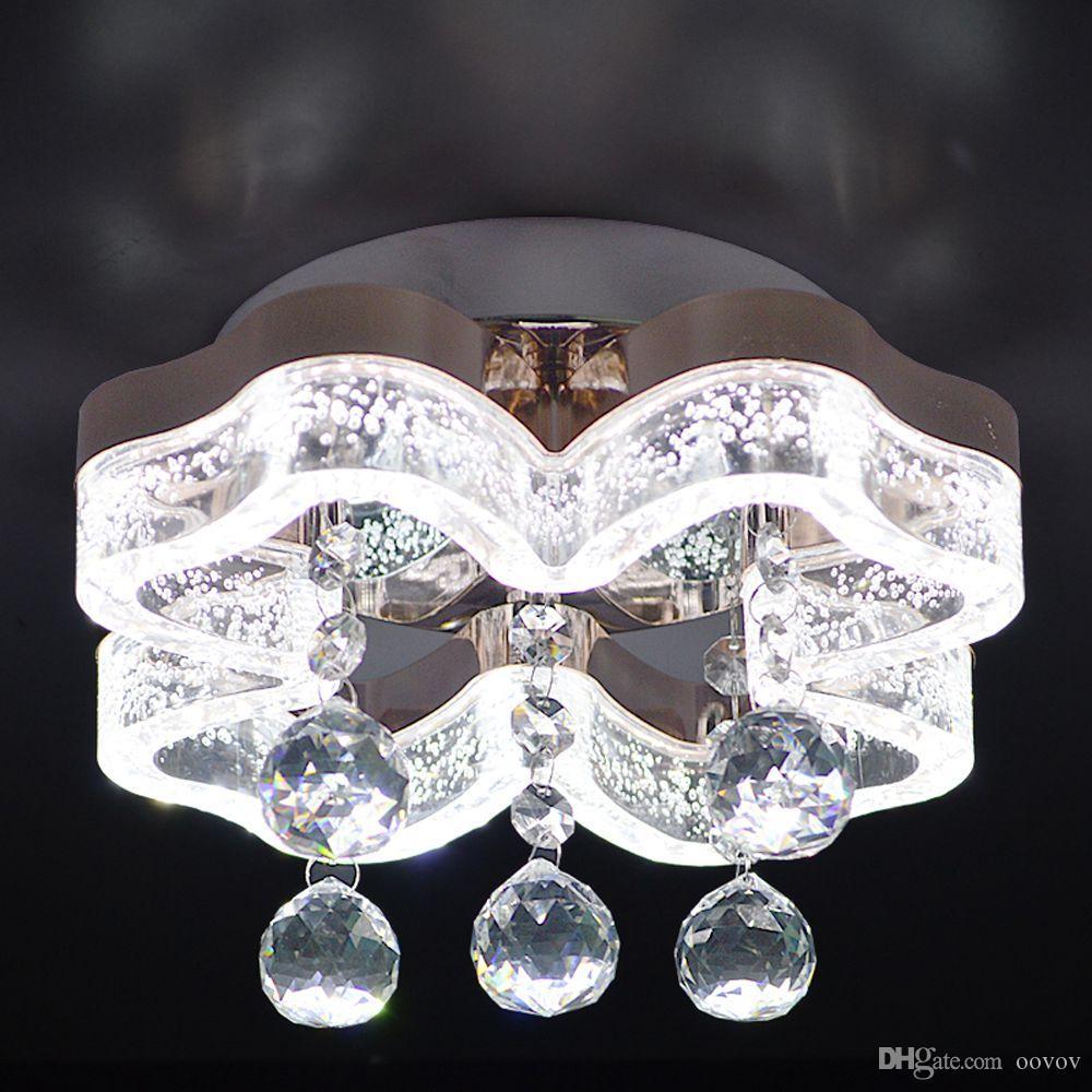 OOVOV LED Crystal Aisle Lights Corridor Entrance Balcony Living Room Bedroom Spotlight Downlight Ceiling Lamp Surface mounted