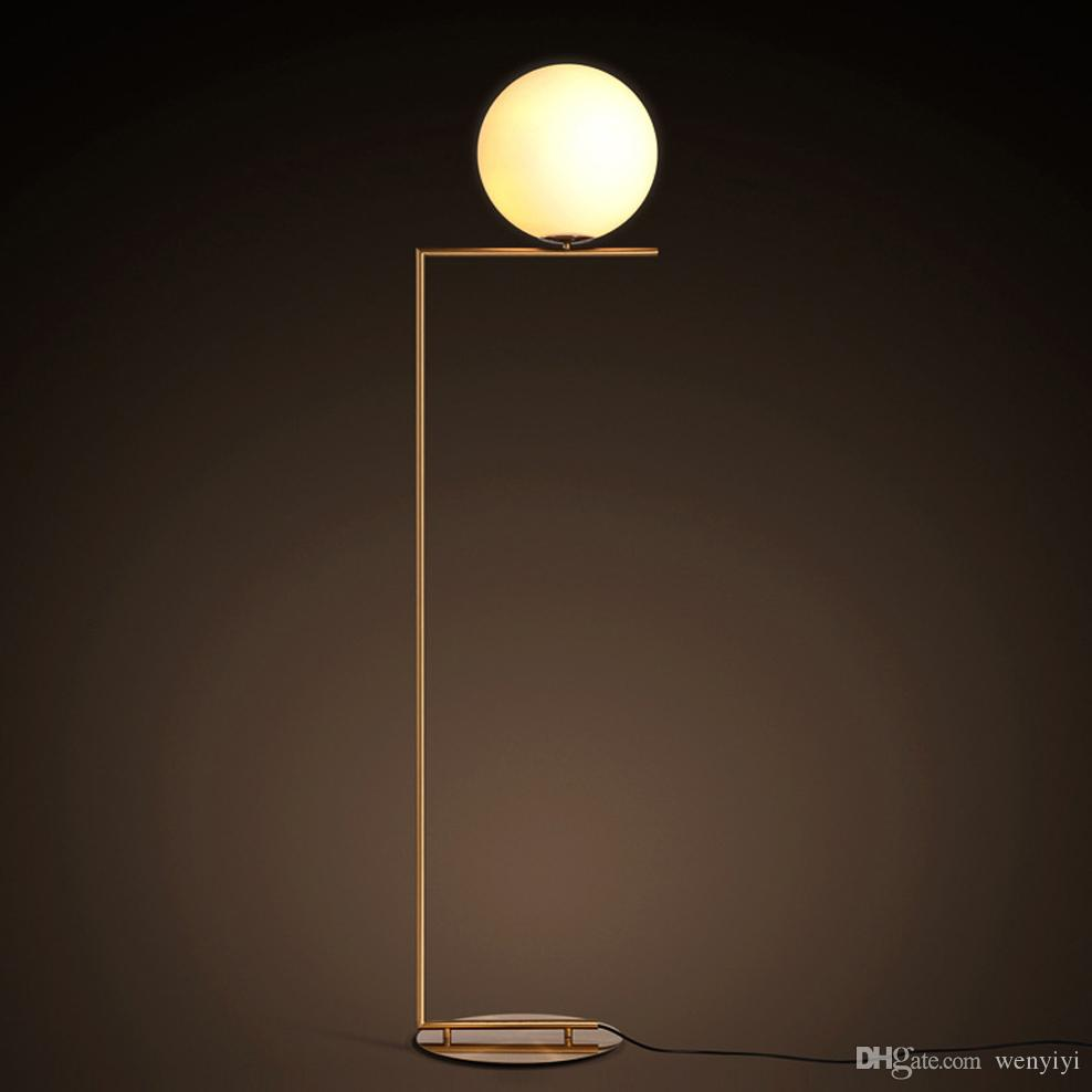 2019 Modern Simple Gold Floor Lamps For Bedroom LED Source Contemporary  Design Art Decoration White Glass Ball Lights From Wenyiyi, $162.32 | ...