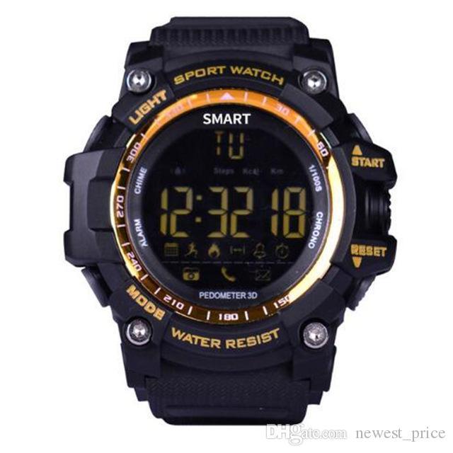 스마트 시계 블루투스 방수 IP67 5 ATM 스마트 워치 Relogios 보수계 스톱워치 손목 시계 스포츠 시계 아이폰 안드로이드 전화