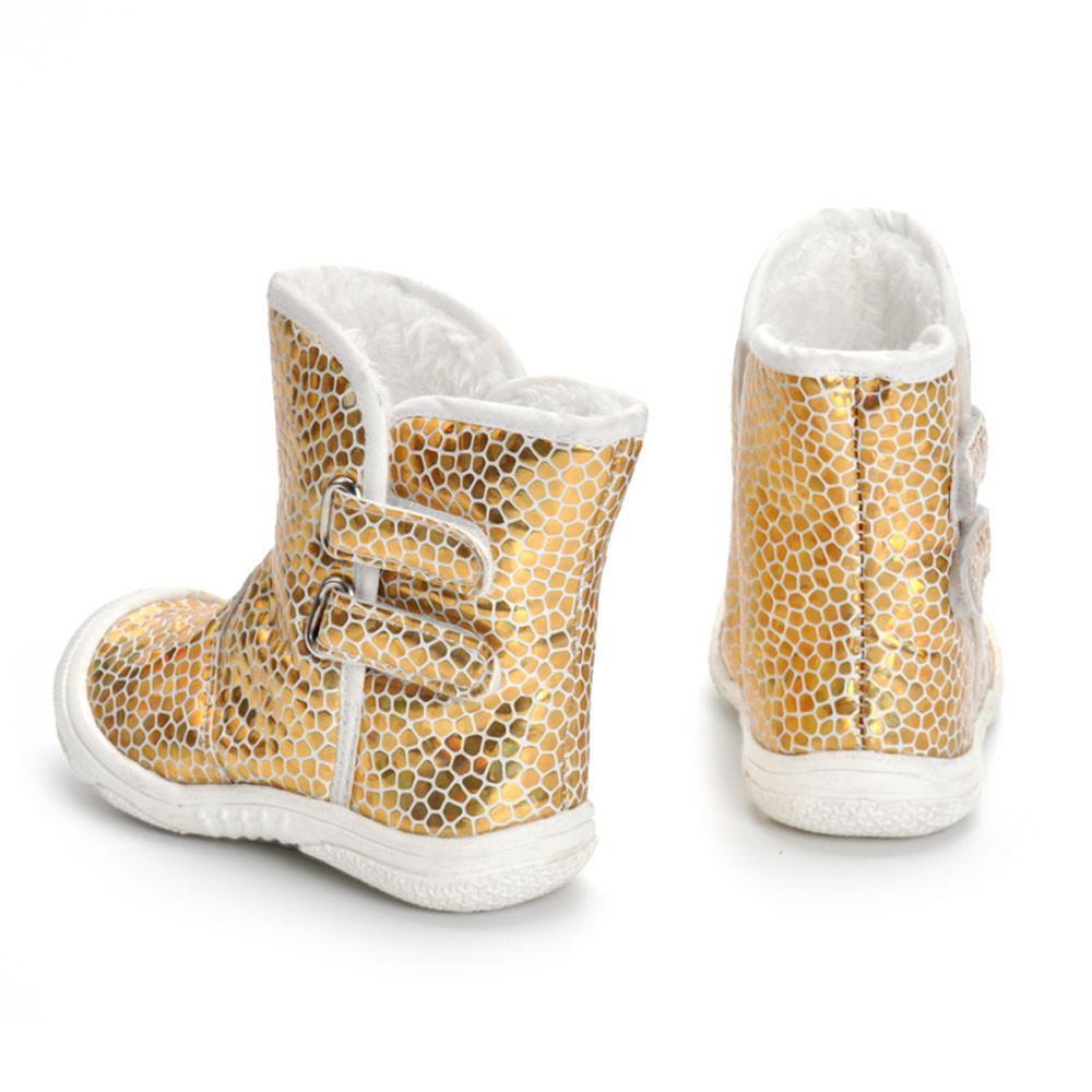 8361276e1ba1 Hot Sale Children Shoes Toddler Newborn Baby Boy Girl Gold Pu Leopard Boots  Prewalker Warm Martin Shoes Cowboy Boots Toddlers Black Boots For Little  Girls ...