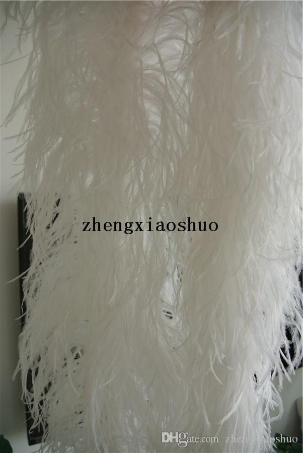 Бесплатная доставка whithe страусиное перо Боа 5 ply thinckness партии / костюм/Шаль / ремесло танцор декор питания костюм питания