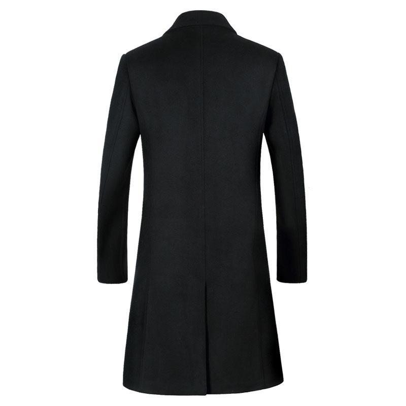 Mantel Revers Großhandel Von 2 Lange Trenchcoat Herren Einreiher Extra Pea Herren Herbst Coat Kerb Wolle Guocloth109 Winter Wolle 2018 Neugeschäft EDIWb2HYe9