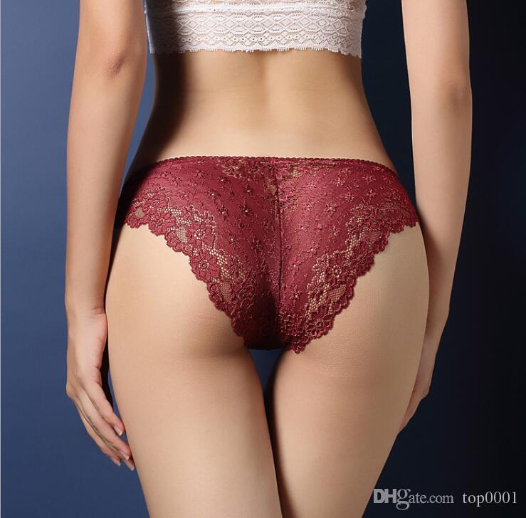 Compre Ropa Interior De Mujer De Lujo Sexy De Encaje Transparente Para Mujer Ropa Interior Cintura Baja Caderas Huecos T Pantalones Chica De Moda