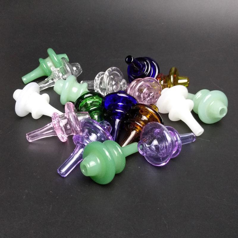 Plus récent en verre coloré UFO Carb Cap Dôme pour verre Bongs Pipes eau Dab huile Rigs thermique P Quartz Banger Nails Livraison gratuite