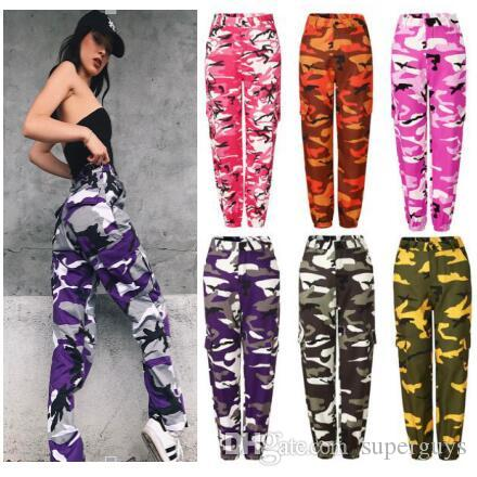 women casual zaooye pants Ladies Fashion camouflage Camo Long Pants Womens sport loose hot sale Trousers PT6-7240