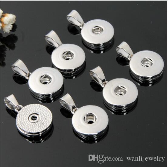 Pendentif bracelet 50pcs nouveau accessoire Interchangeable bijoux bricolage 18mm snap bijoux charme Bouton métal Ginger Collier Pendentifs