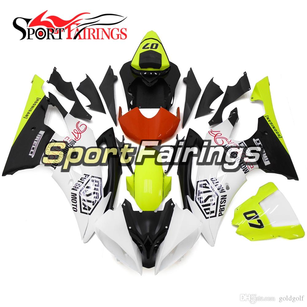 Fluorescent Green Complete Motorcycle Fairing Kit For Yamaha YZF600 R6 YZF-R6 2008 - 2016 09 12 13 Injection ABS Plastic Motorcycle Body Kit