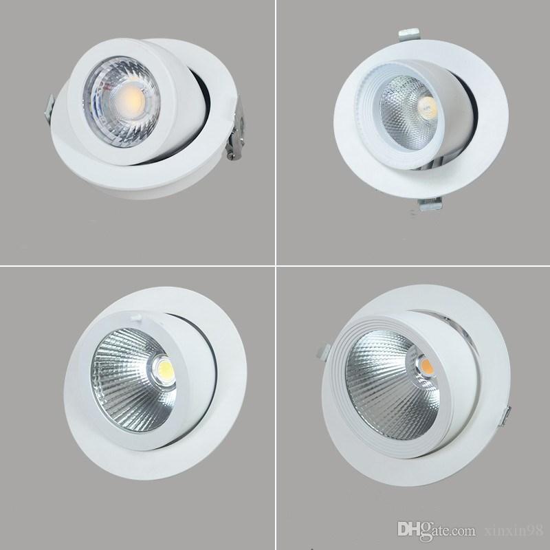 10W / 20W / 30W / 40W LED Trunk Down COB Decken AC85-265V Verstellbare Einbau super helle Innenraumbeleuchtung cob LED-Downlight
