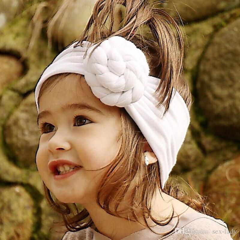 New Rose Cotton Blend Headwraps Winter Warm Turban Girls Tie Knot Headband Bandeau Bebe Gift 8 Colors