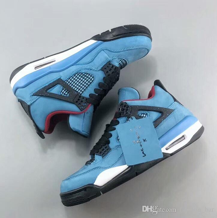 2018 4s Travis x Houston men basketball shoes with box 4s sneaker trainer top quality free shipping