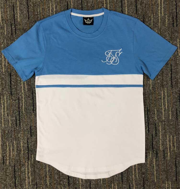 La moda de verano de algodón de seda siksilk la camiseta del oeste camisetas de manga corta Hip Hop camisas de la camiseta de empalme camisetas