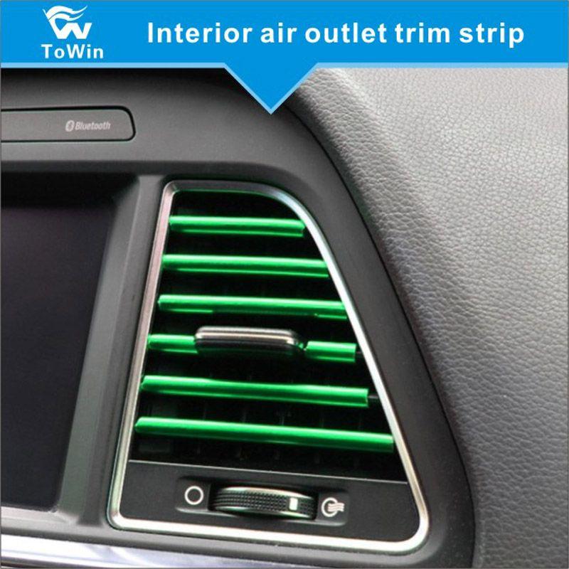 Araba Trim Şerit İç Hava Çıkış Trim Hattı Esnek DIY Otomobil Klima Havalandırma Çıkışı Dekoratif Aksesuarları Şerit