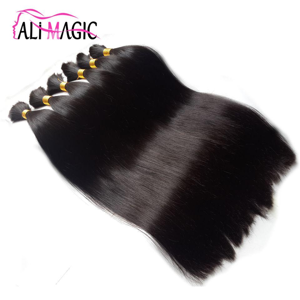 Bulk Human Hair For Braiding,Bulk Hair Bundles 1 Bundle Free Shipping 12 to 26 Inch Natural Color Hair Extensions 16 Colors Optional