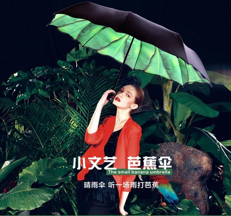 Foglia Paen 2016 Nuove Donne Di Marca Fashin SunRain Umbrella Personalità Ombrello UV Proof Protezione Solare paraguas marcas de lujo