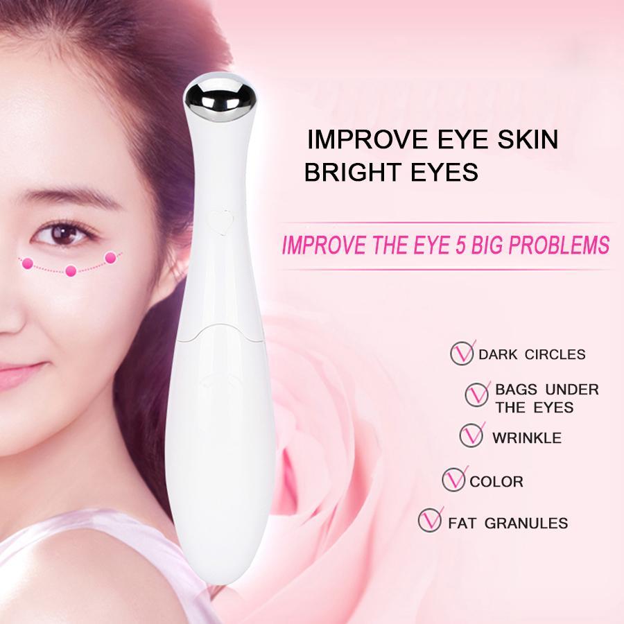 Olho elétrico massageador instrumento beleza dispositivo olho vibração massagem caneta eliminar sacos sob os olhos olheiras rugas