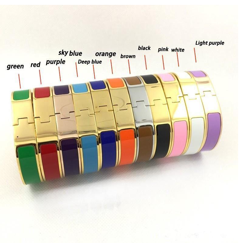 최고 수준의 디자이너 에나멜 티타늄 스틸 편지 팔찌 팔찌 애호가의 참여 남성과 여성 고급 보석