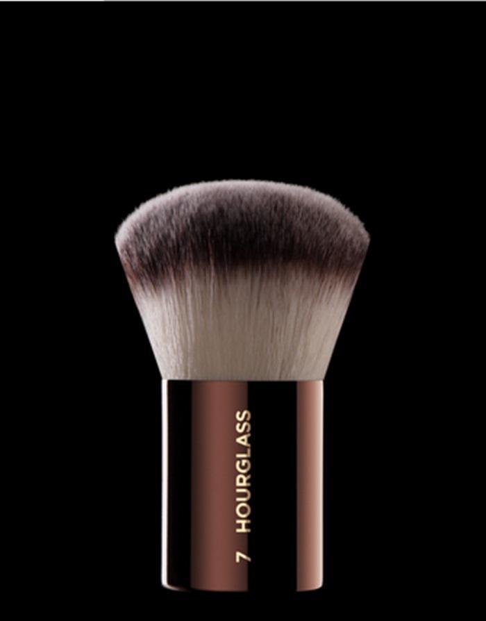 10 pçs-novo e quente venda de ampulheta de cosméticos # 7 acabamento arredondado compõem uma única escova rosto blush pó tez de tez maquiagem escovas grátis navio