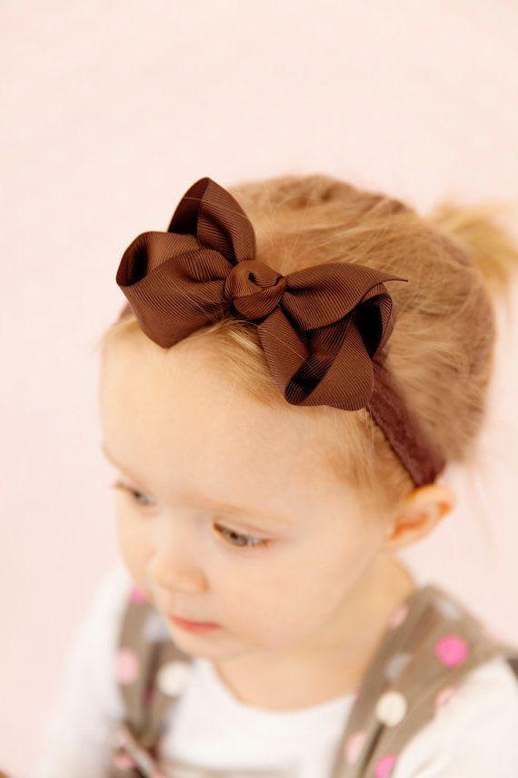 Новорожденный Bebe девушка оголовье бантом волос группа Дети Дети твердые ленты для волос Лук аксессуары для волос bandeau bebe fille 20 цветов