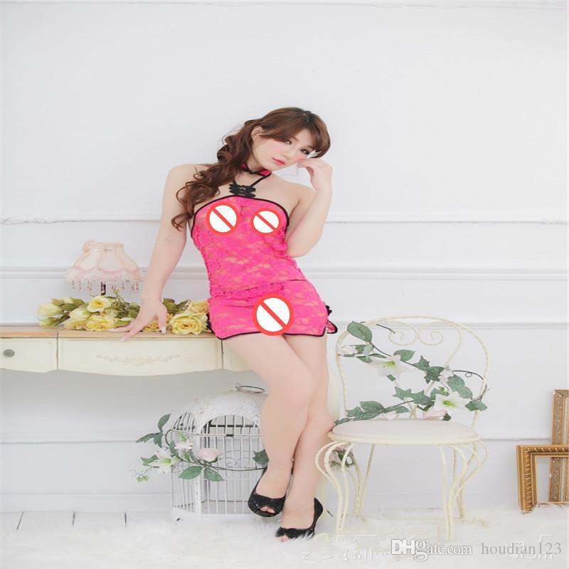 مثير الملابس الداخلية النسائية الدانتيل pieced شيونغسام اللباس التصوير الملابس مثير منامة الأزواج ملهى ليلي يمزح المنتجات الكبار