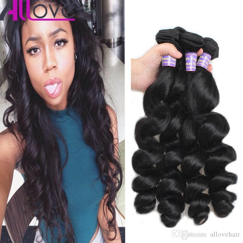 Wholesale Brazilian Hair Extensions 3Pcs/lot Cheap 8A Unprocessed Human Hair Weaves Peruvian Loose Wave Virgin Hair Wefts Free Shipping