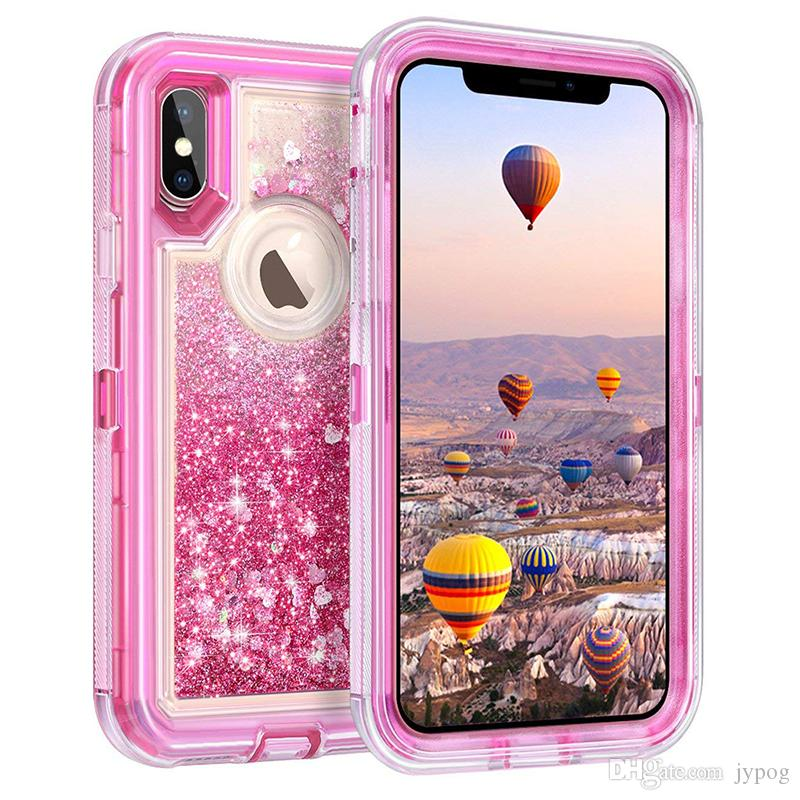 For Iphone XS MAX Case Liquid Quicksand Glitter Bling Back Cover For IPhone XS XR Cases