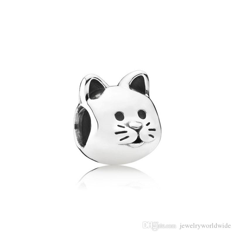 Carino animale domestico gatto lega di fascino perlina migliore amico moda donne gioielli sbalorditivi design stile europeo per la collana del braccialetto fai da te Panza004-57