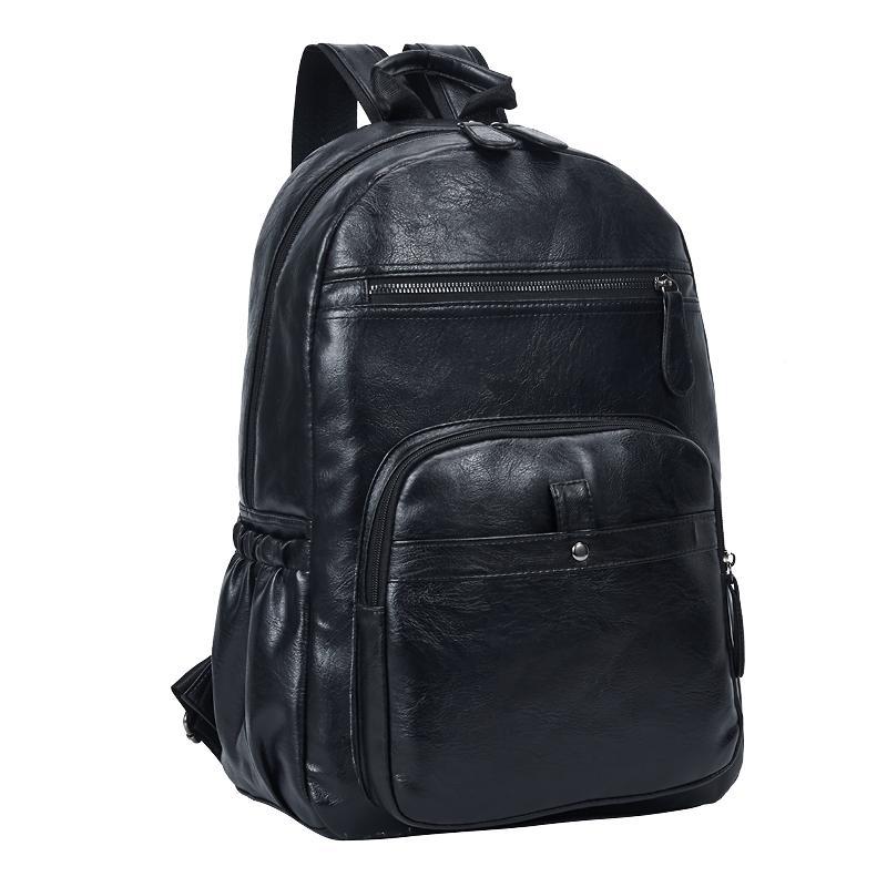 Dropshipping style preppy cuir école sac à dos pour le collège de conception simple homme femme Casual Daypacks homme Nouveau