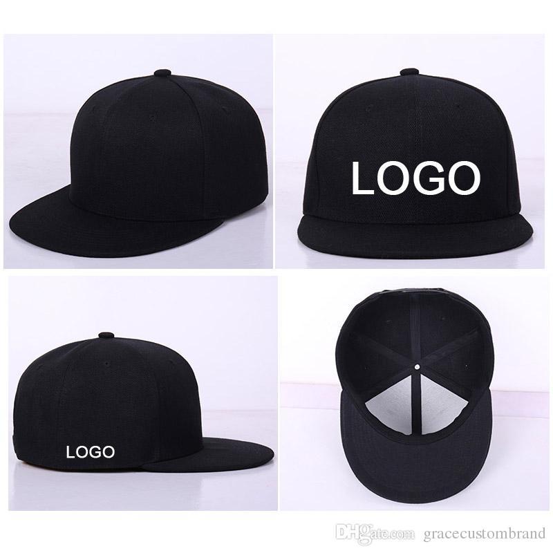 10pcs beaucoup usine gros casquettes hip hop Snapback personnalisé LOGO / lettre à bord plat hip hop chapeau de baseball unisexe taille réglable